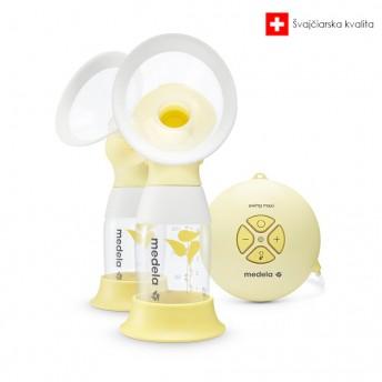 Medela odsávačka mlieka elektrická double Swing Maxi Flex™ + darček Vrecká na mlieko 25ks
